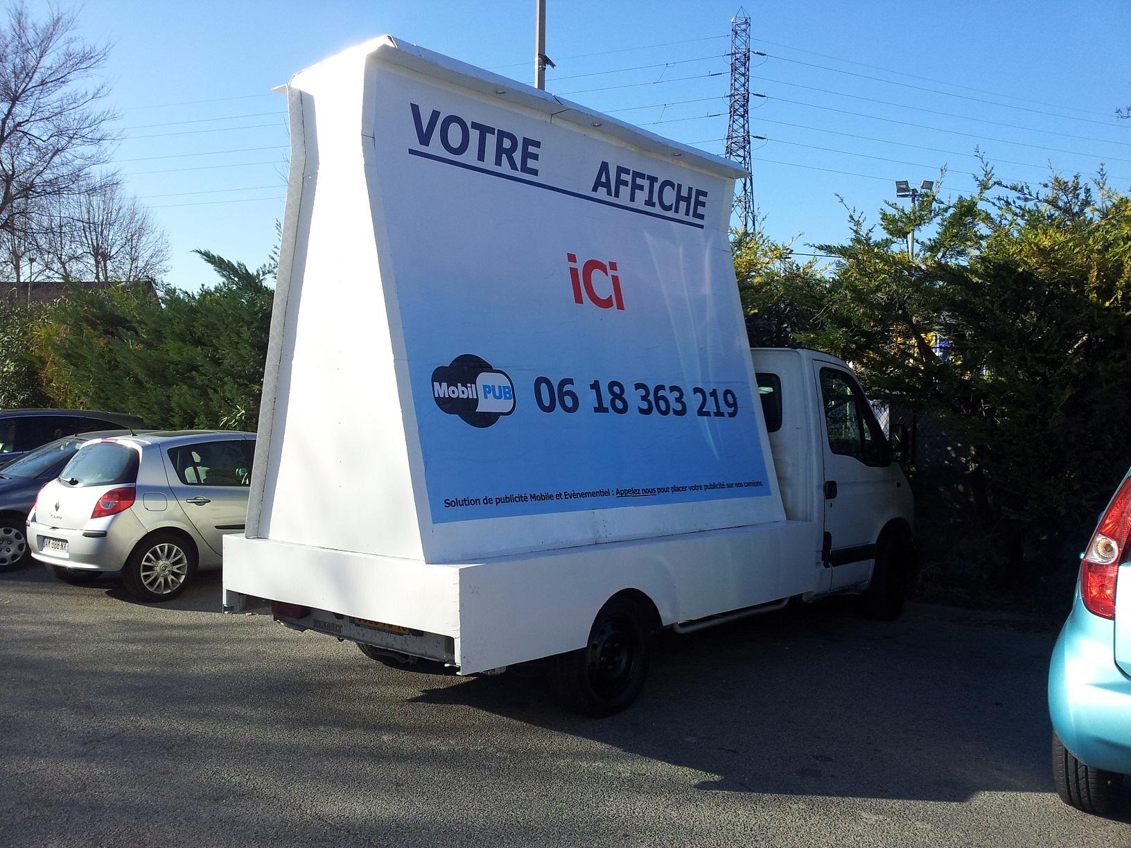 publicit mobile urbaine camion pub bordeaux camion publicitaire marseille. Black Bedroom Furniture Sets. Home Design Ideas