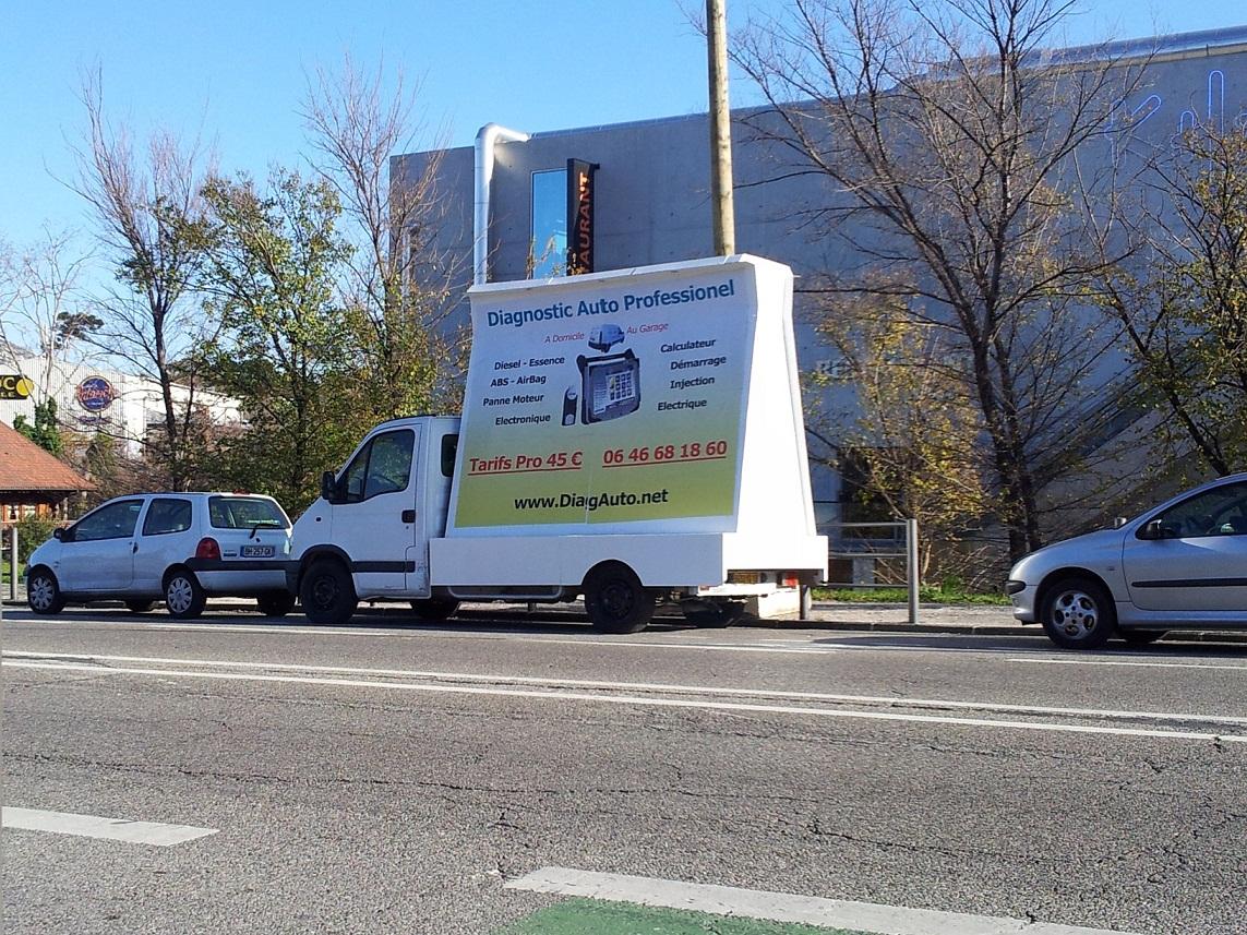 affichage mobile paris camion publicitaire marseille street marketing. Black Bedroom Furniture Sets. Home Design Ideas