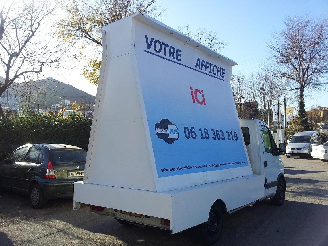 publicit urbaine montpellier camion publicitaire marseille street marketing. Black Bedroom Furniture Sets. Home Design Ideas