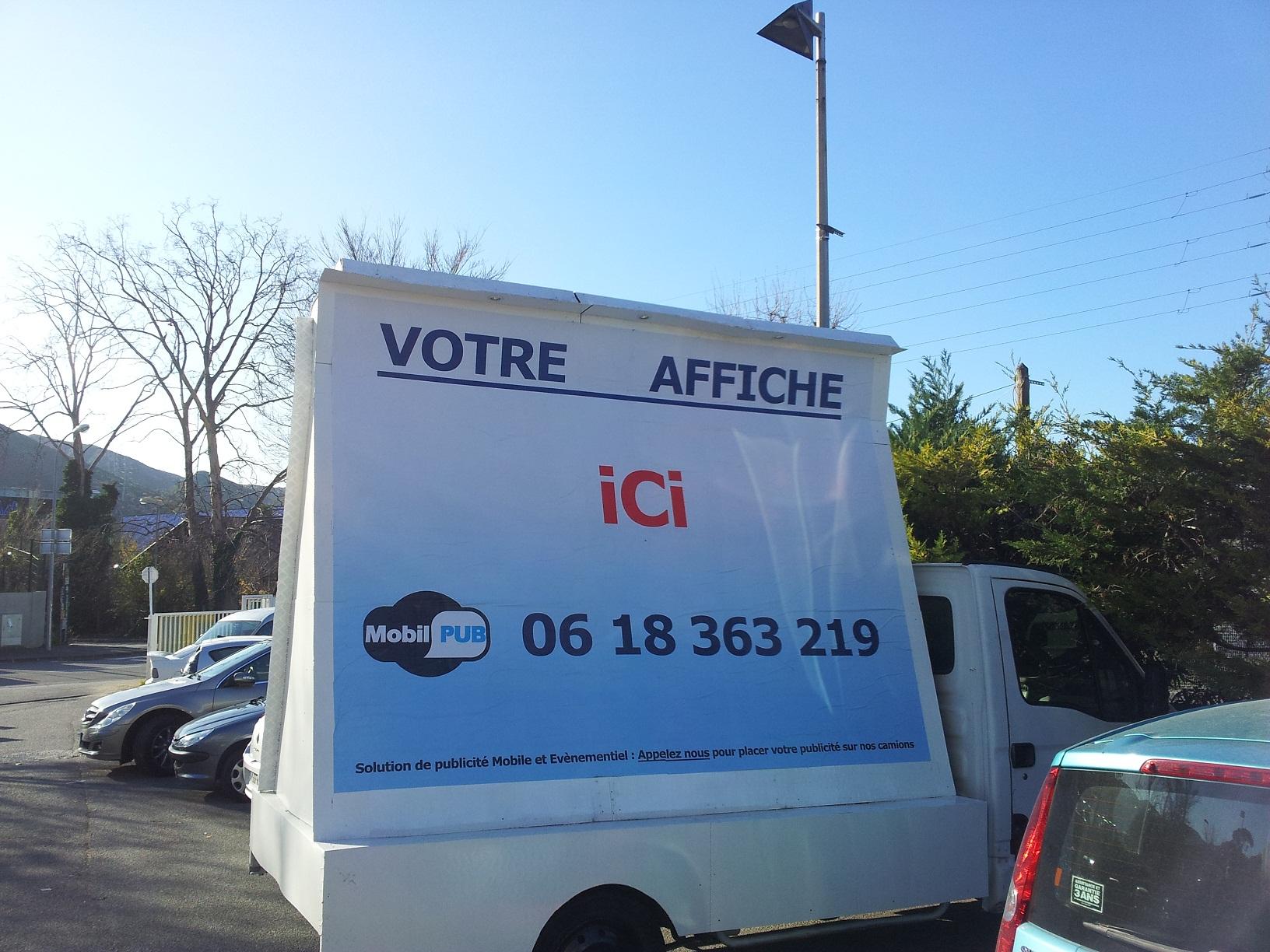Publicit mobile marseille camion for Piscine mobile sur camion