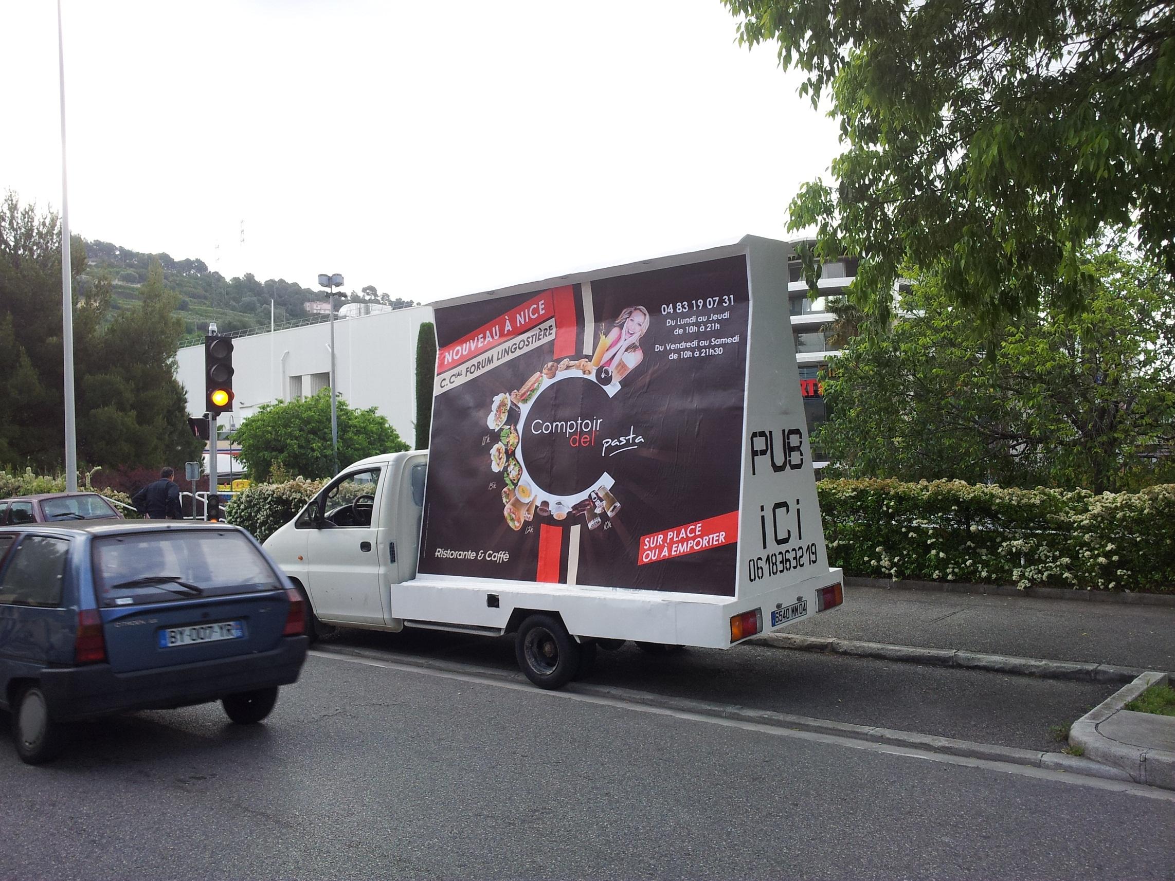 Affichage mobile toulon camion for Piscine mobile sur camion