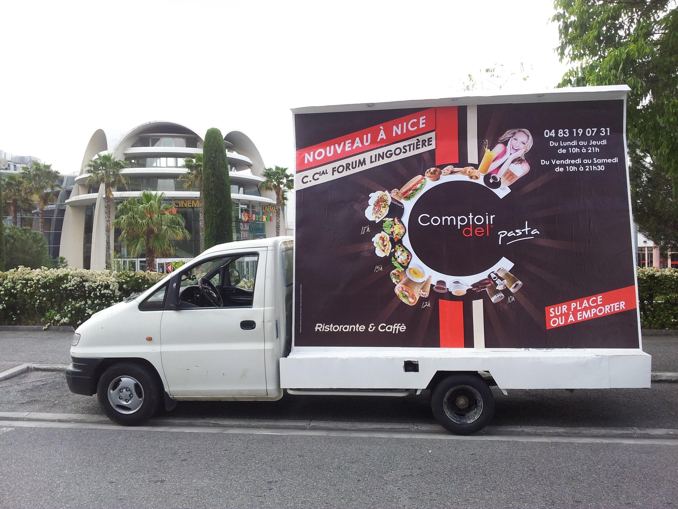 Affichage mobile au sud camion for Piscine mobile sur camion